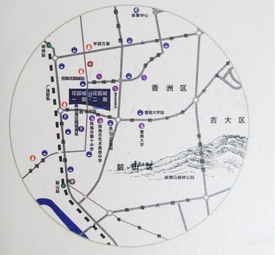 二手房 按区域找房  珠海招商花园城二期作为招商花园城一期的改良图片